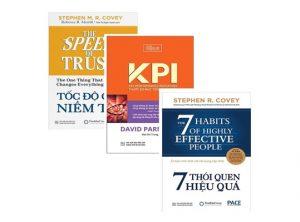 Sách - Combo Tốc Độ Của Niềm Tin + KPI - Thước Đo Mục Tiêu Trọng Yếu + 7 Thói Quen Hiệu Quả
