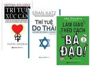 """3 cuốn Làm Giàu Theo Cách """"Bá Đạo"""" + Trí Tuệ Xúc Cảm + Trí Tuệ Do Thái"""
