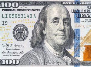 Benjamin Franklin được in chân dung trên tờ tiền Mỹ với mệnh giá cao nhất 100 USD.
